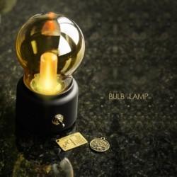 1x Vintage asztali lámpa hordozható USB újratölthető ipari izzó lámpa