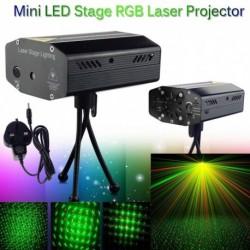 1x Mini modern LED színpad világítás R&B lézer projektor DJ Party Effect