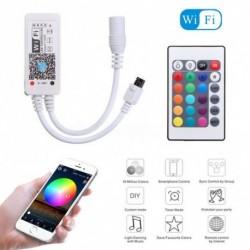 1x Mini Wifi RGB LED vezérlő 5050 3528 RGB LED csík fény telefonhoz