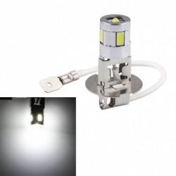 1db H3 autó fény LED nagy teljesítményű köd nappali  izzó 4SMD 5630 5730 Fényes Auto