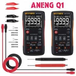 1x ANENG Q1 9999 digitális multiméter tartománynak AC / DC Volt kapacitási frekvencia hőmérsékletmérő