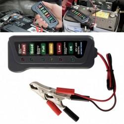 12V-os Autó digitális akkumulátor 6 LED-es lámpa kijelző generátor tesztelő diagnosztikai eszköz