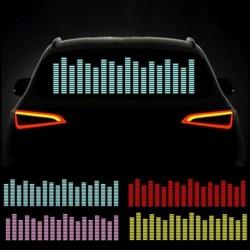 45x11cm 12V LED zene ritmusvezérlés fényjelzés Az Autó matrica aktiválása