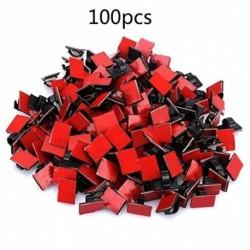 100db ragasztó kábel klip Drótbilincsek Autó kábel szervező kábelköteg tartó