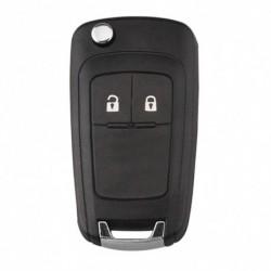 2 Gomb távirányító Flip Kulcs fül Fob tok  burkolat  a Vauxhall Insignia Astra