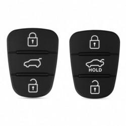 Autó kulcstartó csere Gumi gombpárna Hyundai Solaris Accent Tucson l10 l20 l30 Kia Rio Ceed Flip távirányító
