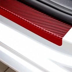 4db 3D Autó ajtóillesztés Üdvözlő pedál Védje szénszálas matricákat Tartozékok Piros