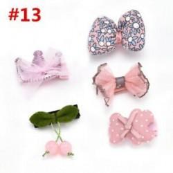 * 13 5Pcs / Set. 1 Set Hairpin Baby Girl hajcsípő íj virág Mini barrettes Star Kids fejfedők