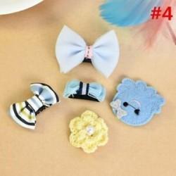 * 4 5Pcs / Set. 1 Set Hairpin Baby Girl hajcsípő íj virág Mini barrettes Star Kids fejfedők