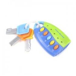 Zöld. 1db baba zenei intelligens távirányító autó kulcsjáték autóhangok Pretend játék oktatási játékok