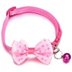 Rózsaszín. Kisállat macska cica Bowknot Bell Pet csokornyakkendő nyakkendő gallér kutya kölyök állítható