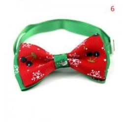 6 *. Aranyos karácsonyi kutya macska kisállat kiskutya Bowknot nyakkendő gallér íj nyakkendő ruhák divat