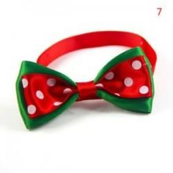 7 *. Aranyos karácsonyi kutya macska kisállat kiskutya Bowknot nyakkendő gallér íj nyakkendő ruhák divat