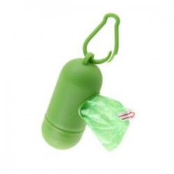 Zöld. Hot Pet Dog szemét tisztító táskák hulladék hordozó tartó adagoló   Poop táskák készlet