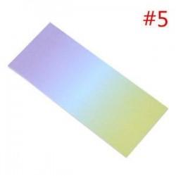 * 5. 40db színes szivárványos öntapadó jegyzetek rajzfilm írása diák tanulmány papír jegyzetfüzet