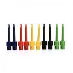10pc legújabb multiméteres vezetékhuzal-készlet tesztkábel rögzítő készlet színes csatlakozóhoz