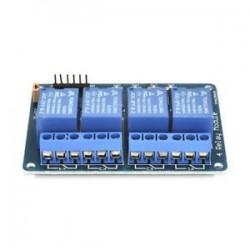 4 CH optocsatolóval (kék). 5V 1/2/4/8 csatorna relé kártya modul Optikai csatlakozó LED az Arduino PiC ARM AVR számára