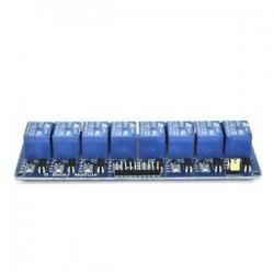 8 CH optocsatolóval (kék). 5V 1/2/4/8 csatorna relé kártya modul Optikai csatlakozó LED az Arduino PiC ARM AVR számára