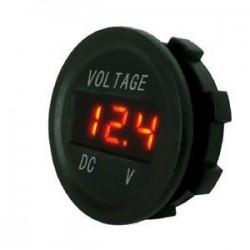 narancs. 12V 24V autós tengeri motorkerékpár LED digitális feszültség feszültségmérő akkumulátor mérőműszer