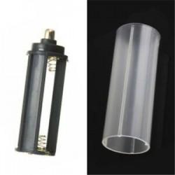 E-1PCS 18650 akkumulátorcső. E-1PCS 18650 akkumulátorcső. Hordozható műanyag elemtartó fedél tartó tároló doboz