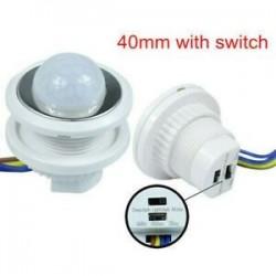 5W ~ 200W 50 ~ 60Hz PIR infravörös test mozgásérzékelő vezérlő kapcsoló fehér fénylámpa