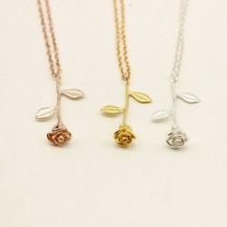Luxus arany ezüst szépség és a szörnyeteg Rose medál nyaklánc évforduló ékszer ajándék forró