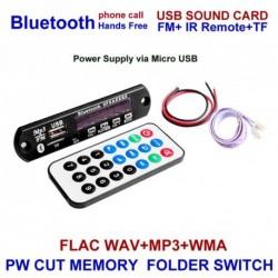 Vezeték nélküli Bluetooth - TF kártya - USB - 12V MP3 WMA dekóder távirányítóval