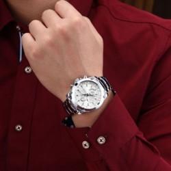 VALUTA luxus márka férfi rozsdamentes acél vízálló üzleti órák alkalmi katonai Army karóráját
