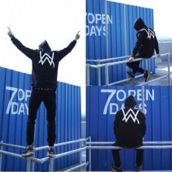 1x férfi divatos pulóver Rock Dj hosszú ujjú pulóver felső