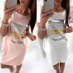 432c588e6d 1x Szexi új divatos alkalmi női hosszúmintás póló alkalmi ruha mini