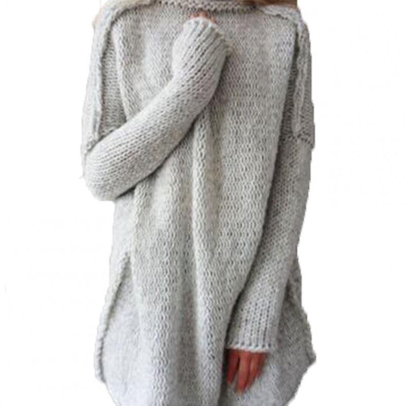 80bc4d9519 1x Női alkalmi magas nyakú garbó hosszú ujjú pulóver blúz felső pulcsi  kardigán