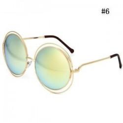 Túlméretezett kerek napszemüveg divat női nagy méretű nagy retro árnyalatú napszemüveg