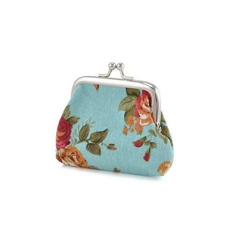 0eb06f6aa894 Vintage női pénztárca virág kis érme erszényes hasp vászon kuplung kis  pénztárca táska