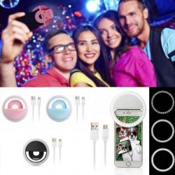 Selfie arc megvilágítás hordozható LED gyűrű újratölthető univerzális iPhone stb. telefonhoz