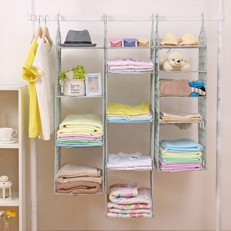 4 polcos függő szekrény ruha törölköző tároló