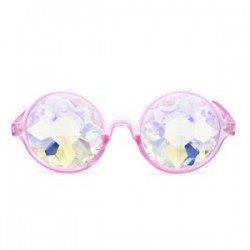Fesztivál Rave Kaleidoszkóp kerek szivárvány szemüveg diffrakciós kristály lencséje