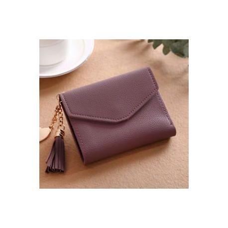 d85ff72e0598 Női Mini Tassel pénztárca Kártyatartó Kuplung érme erszényes bőr táska táska