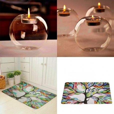 1x kristályüveg gyertyatartó Esküvői otthon lakás dekoráció gyertyatartó   padlószőnyeg lábtörlő