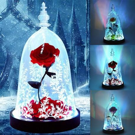 1x Rózsa virág ünnepi dísz dekoráció Szépség és a szörnyeteg rózsa