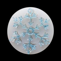 1x Szilikon gyanta hópehely DIY kézműves készítés hobby hobbi