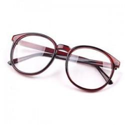Divat Unisex férfi Retro kerek keret Vintage női szemüveg Nerd szemüveg ajándék