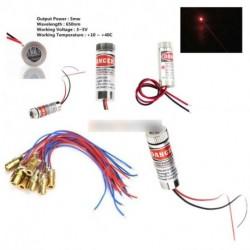 650nm 3-5V 5mW állítható piros Lézer dióda Cross vonal objektív fókusz fej lézer