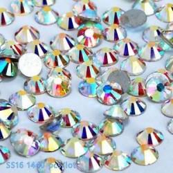 SS20ABďĽ4.7mmďĽ ‰ 1440PCS. 1440pcs lapos hátsó körömlakk csillogó gyémánt drágakövek 3D tippek díszítés