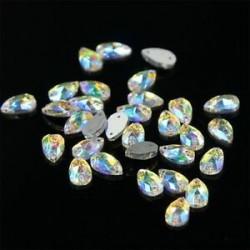 48PCS Waterdrop 12mm x 7mm. 1440pcs lapos hátsó körömlakk csillogó gyémánt drágakövek 3D tippek díszítés