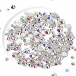 300db AB SS4-SS16 (1.6mm-4mm). 1440pcs lapos hátsó körömlakk csillogó gyémánt drágakövek 3D tippek díszítés