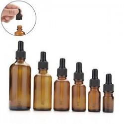 5ml-100ml borostyán üveg folyékony reagens Pipettázza az üveg szemcsepp aromaterápiát