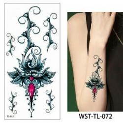 * 72. Szexi test mellkasi művészet 3D virág ideiglenes matricák vízálló kar tetoválás matricák
