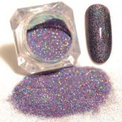 * 7 Lila. Nail Art Glitter porpor UV GEL akril por köröm tippek DIY dekoráció