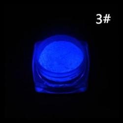 3 *. Neon színek Foszforeszkáló FLUORESCENT por izzó sötét körömlakk akril