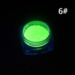 1 adag Sötétben világító - Foszforeszkáló pigment por körömhöz - műkörömhöz - 6-os verzió